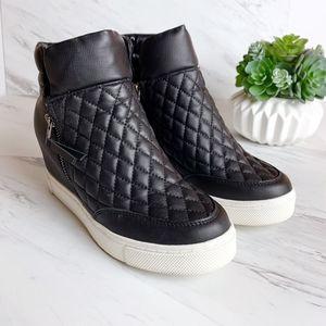 Steve Madden | Quilted Platform Sneaker Wedges 8M